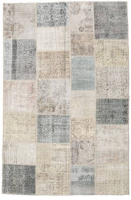 Patchwork Rug 197X298 Authentic  Modern Handknotted Light Grey (Wool, Turkey)