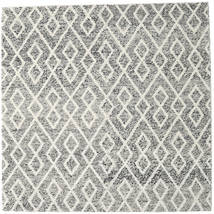 Hudson - Melange Black Rug 250X250 Modern Square Light Grey/Dark Grey Large (Wool, India)