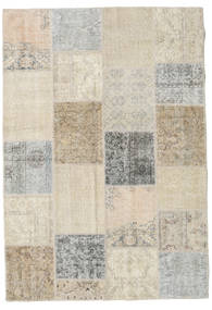 Patchwork Rug 159X230 Authentic  Modern Handknotted Light Brown/Light Grey (Wool, Turkey)