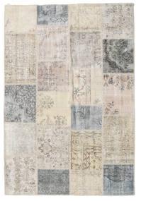 Patchwork Tapis 158X233 Moderne Fait Main Gris Clair (Laine, Turquie)