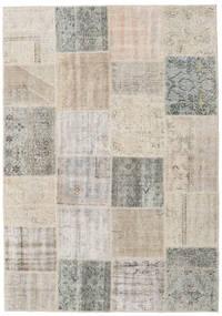 Patchwork Tapis 157X227 Moderne Fait Main Gris Clair/Marron Clair (Laine, Turquie)