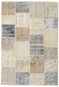 Patchwork Rug 157X231 Authentic  Modern Handknotted Light Grey/Dark Beige (Wool, Turkey)