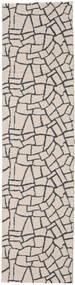 Terrazzo - Beige/Black Rug 70X350 Modern Hallway Runner  White/Creme/Light Grey ( Sweden)