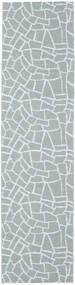 Terrazzo - Groen/Mint Vloerkleed 70X210 Modern Tapijtloper Lichtblauw/Lichtgrijs ( Zweden)