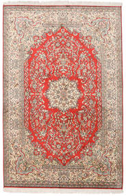 Kashmir Pure Silk Rug 124X190 Authentic Oriental Handknotted Beige/Light Brown (Silk, India)