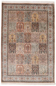 Kashmir Pure Silk Rug 125X185 Authentic  Oriental Handknotted Light Brown/Brown (Silk, India)