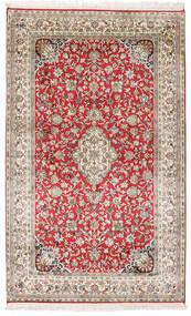Kashmir 100% Silkki Matto 96X156 Itämainen Käsinsolmittu Vaaleanharmaa/Tummanbeige (Silkki, Intia)