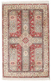 Kashmir Pure Silk Rug 96X146 Authentic  Oriental Handknotted Light Grey/White/Creme (Silk, India)
