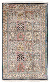 Kashmir Pure Silk Rug 94X155 Authentic Oriental Handknotted Light Brown/Light Grey (Silk, India)