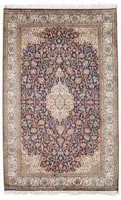 Kashmir 100% Silkki Matto 98X155 Itämainen Käsinsolmittu Vaaleanharmaa/Valkoinen/Creme (Silkki, Intia)