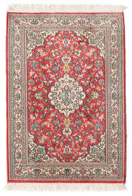 Kashmir Pure Silk Rug 65X95 Authentic Oriental Handknotted Beige (Silk, India)