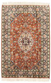 Kashmir Pure Silk Rug 65X95 Authentic  Oriental Handknotted Brown/Beige (Silk, India)