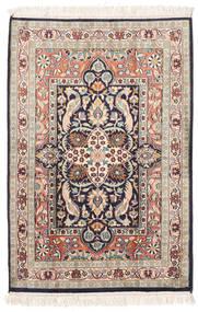 Kashmir Äkta Silke Matta 65X95 Äkta Orientalisk Handknuten Beige/Ljusrosa (Silke, Indien)