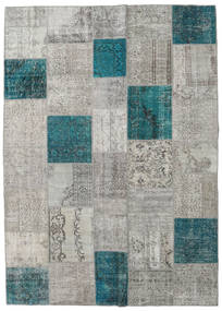 Patchwork Rug 250X352 Authentic  Modern Handknotted Light Grey/Dark Turquoise   Large (Wool, Turkey)