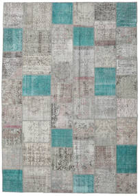 Patchwork Rug 250X356 Authentic  Modern Handknotted Light Grey/Dark Grey Large (Wool, Turkey)