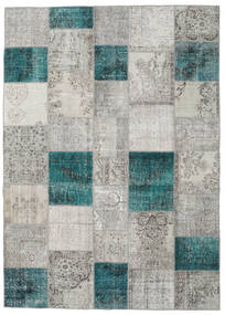 Patchwork Rug 251X351 Authentic  Modern Handknotted Light Grey/Blue Large (Wool, Turkey)