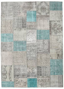 Patchwork Rug 251X350 Authentic  Modern Handknotted Light Grey Large (Wool, Turkey)