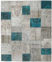 Patchwork Rug 250X298 Authentic  Modern Handknotted Light Grey/Blue Large (Wool, Turkey)