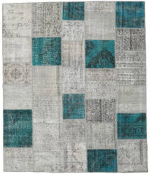 Patchwork Rug 252X300 Authentic  Modern Handknotted Light Grey/Dark Turquoise   Large (Wool, Turkey)