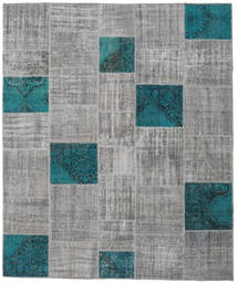 Patchwork Rug 250X302 Authentic  Modern Handknotted Light Grey/Dark Turquoise   Large (Wool, Turkey)
