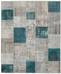 Patchwork Rug 252X302 Authentic  Modern Handknotted Light Grey/Dark Turquoise   Large (Wool, Turkey)