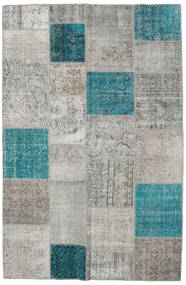 Patchwork Rug 196X301 Authentic  Modern Handknotted Light Grey (Wool, Turkey)