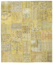 Patchwork Rug 250X299 Authentic  Modern Handknotted Yellow/Light Green Large (Wool, Turkey)