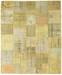 Patchwork Matto 252X305 Moderni Käsinsolmittu Keltainen/Vaaleanvihreä Isot (Villa, Turkki)