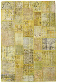 Patchwork Rug 203X300 Authentic  Modern Handknotted Olive Green/Light Green (Wool, Turkey)