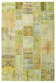 Patchwork Rug 198X300 Authentic  Modern Handknotted Light Green/Yellow (Wool, Turkey)