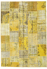 Patchwork Rug 208X300 Authentic  Modern Handknotted Yellow/Olive Green (Wool, Turkey)