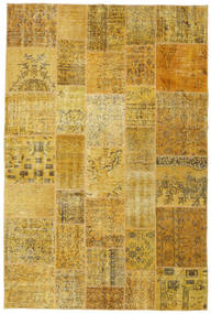 Patchwork Rug 200X300 Authentic  Modern Handknotted Yellow/Brown (Wool, Turkey)