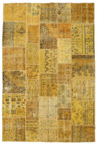 Patchwork Rug 198X300 Authentic  Modern Handknotted Yellow/Brown (Wool, Turkey)