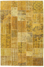 Patchwork Rug 196X300 Authentic  Modern Handknotted Yellow/Brown (Wool, Turkey)