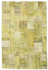 Patchwork Teppe 204X301 Ekte Moderne Håndknyttet Gul/Olivengrønn (Ull, Tyrkia)