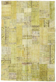 Patchwork Rug 204X300 Authentic  Modern Handknotted Yellow/Light Green (Wool, Turkey)