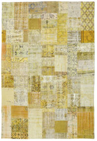 Patchwork Rug 201X300 Authentic  Modern Handknotted Olive Green/Yellow (Wool, Turkey)