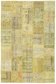 Patchwork Rug 198X301 Authentic  Modern Handknotted Yellow/Light Green (Wool, Turkey)