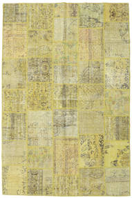 Patchwork Rug 198X298 Authentic  Modern Handknotted Light Green/Yellow (Wool, Turkey)