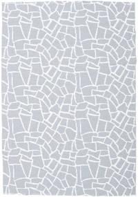 Terrazzo - Grau/Weiß Teppich  200X280 Moderner Hellblau/Beige ( Schweden)