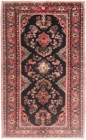 Hamadan Matto 128X205 Itämainen Käsinsolmittu Tummanpunainen/Violetti (Villa, Persia/Iran)