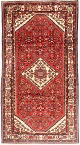 Hosseinabad Tapis 173X318 D'orient Fait Main Rouge Foncé/Beige (Laine, Perse/Iran)