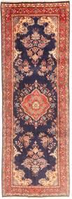 Sarough Vloerkleed 107X308 Echt Oosters Handgeknoopt Tapijtloper Donkerpaars/Bruin (Wol, Perzië/Iran)