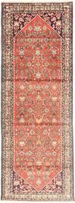 Hamadan Teppe 107X300 Ekte Orientalsk Håndknyttet Teppeløpere Lysbrun/Lyserosa (Ull, Persia/Iran)