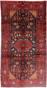 Nahavand Rug 165X305 Authentic Oriental Handknotted Dark Red/Dark Brown (Wool, Persia/Iran)