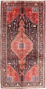 Nahavand Rug 165X325 Authentic  Oriental Handknotted Hallway Runner  Dark Blue/Dark Red (Wool, Persia/Iran)