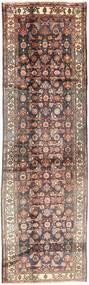 Hamadan Tapijt 110X383 Echt Oosters Handgeknoopt Tapijtloper Lichtbruin/Bruin (Wol, Perzië/Iran)