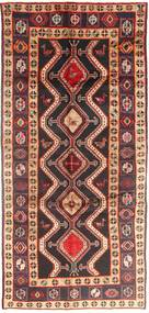 Koliai Rug 140X308 Authentic  Oriental Handknotted Hallway Runner  Brown/Dark Blue (Wool, Persia/Iran)
