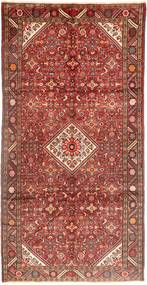 Hosseinabad Rug 162X320 Authentic  Oriental Handknotted Hallway Runner  Dark Red/Rust Red (Wool, Persia/Iran)