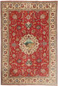 Tabriz Patina Teppe 243X355 Ekte Orientalsk Håndknyttet Lysbrun/Rust (Ull, Persia/Iran)